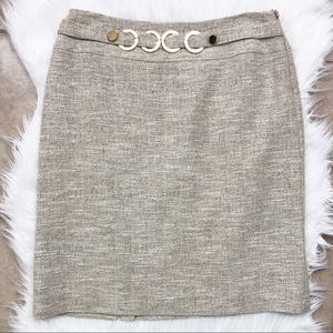 Antonio Melani metallic weave tweed skirt